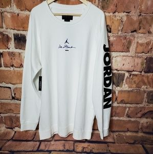 "White Jordan Sweatshirt XXL ""I'M BACK"""